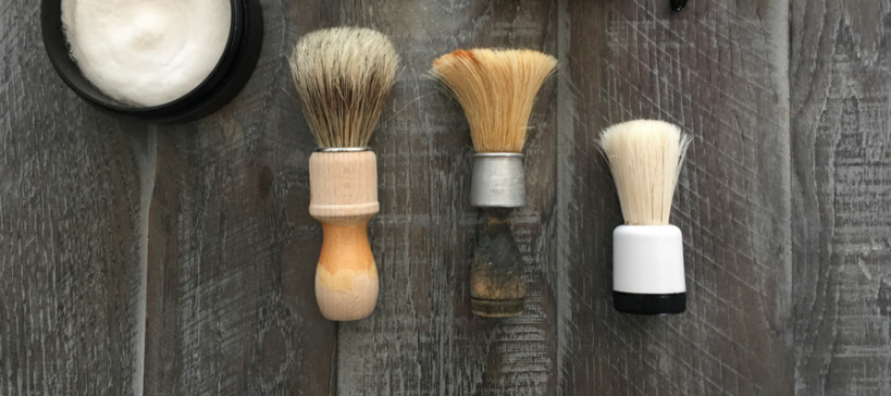 Shave Valet Coming Soon Blog image featuring 3 Shave Brushes