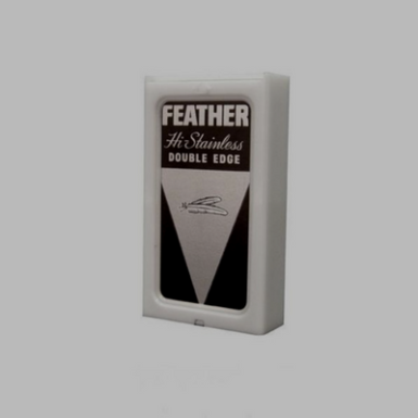 Feather Hi-Stainless Black Package ($3.25/5 pack) ($42.00/100 pack)