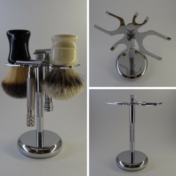4 Prong Razor and Brush Stand $35.00