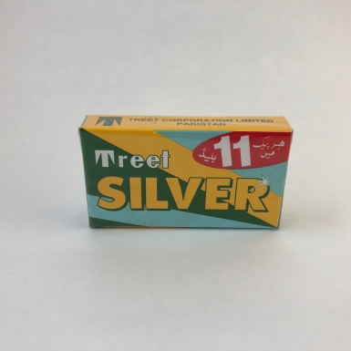 Treet Silver Carbon Steel Double Edge Safety Razor Blades by Shave Valet Saskatoon YXE ($4.25/11 pack)