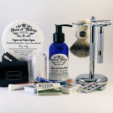 The Owl Traditional Wet Shaving Starter Kit by Shave Valet Saskatoon YXE